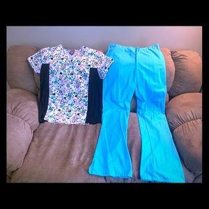 Other - Medium colorful scrubs- shirt & pants